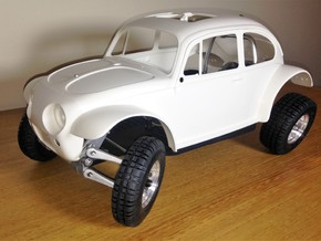 Custom scale chassis for Tamiya Sand Scorcher SRB in Black Natural Versatile Plastic