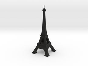 Eiffel Tower in Black Natural Versatile Plastic