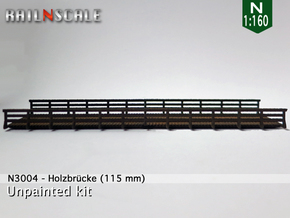 Autobrücke 115 mm (N 1:160 / TT 1:120) in White Strong & Flexible