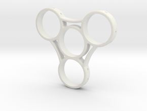 Triad - Fidget Spinner in White Strong & Flexible