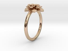 Chrysanthemum Flower Ring in 14k Rose Gold: 8 / 56.75