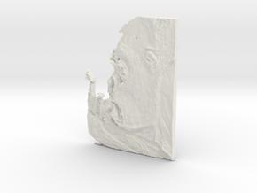 Gorilla 2 Pendant in White Natural Versatile Plastic