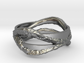 Full Dual Stone Ring in Polished Silver: 5 / 49