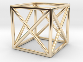 CUBE Nº 1 RING in 14k Gold Plated Brass: 7 / 54