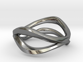 Dual Ring in Polished Silver: 5 / 49