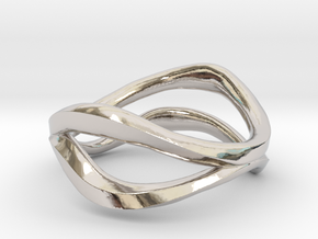 Dual Ring in Rhodium Plated Brass: 5 / 49