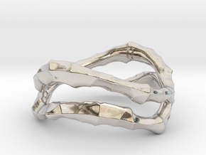 Dual Voronoi Ring in Rhodium Plated Brass: 5 / 49