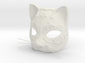 Splicer Mask Cat (Mens Size) in White Natural Versatile Plastic