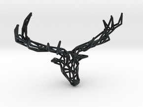 Untamed: The Deer Pendant in Black Hi-Def Acrylate: Small