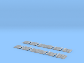 N Gauge Polymer Anti-trespass Panels Streamline 55 in Frosted Ultra Detail: 1:148
