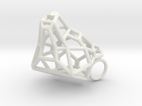 Untamed: The Bear Bracelet in White Natural Versatile Plastic: Large
