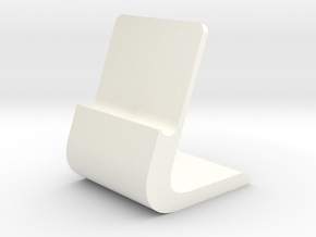 iPhone Stand Slim in White Processed Versatile Plastic