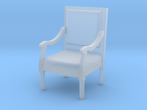 1:144 Louis XVI Chair Straight Back in Frosted Extreme Detail