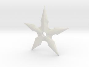 Throwing Star in White Natural Versatile Plastic