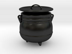 Cauldron Bowl with Lid in Matte Black Porcelain