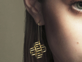 STRUCTURE Nº 2 EARRINGS in 14k Gold Plated Brass