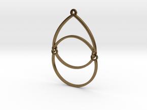 BlakOpal Open Teardrop Earring in Natural Bronze (Interlocking Parts)