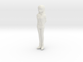 1/24 Spectator Lady in White Natural Versatile Plastic