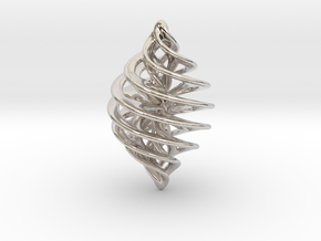 Entanglement Bauble in Rhodium Plated Brass