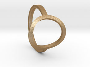 Simple Ring 111b8 in Matte Gold Steel
