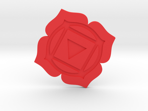 Root Chakra Token in Red Processed Versatile Plastic