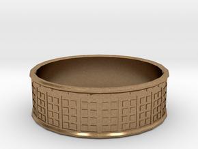 Tardis Ring, 18mm in Natural Brass