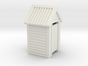 N Scale Wooden Outdoor Toilet Dunny 1:160 in White Strong & Flexible