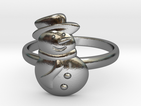 Snowman Ring in Polished Silver: 4.5 / 47.75