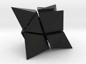 Skewb Octahedron inward  in Black Strong & Flexible: Medium