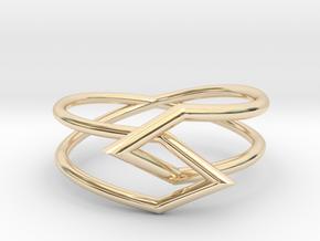 Interlocking Triangles Ring in 14K Yellow Gold: 8 / 56.75