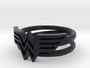 Wonder Woman Ring With Lasso Size 6 in Black Hi-Def Acrylate: 6 / 51.5