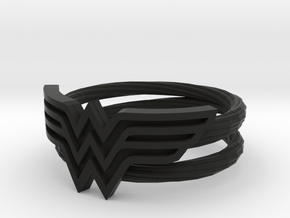 Wonder Woman Ring With Lasso Size 7 in Black Strong & Flexible: 7 / 54