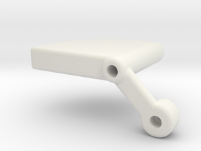 Universal Tail Support V2 RH in White Natural Versatile Plastic