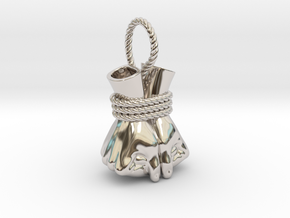 Bound Hands in Rhodium Plated Brass