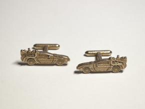 Back to the Future's Delorean: cufflinks in Stainless Steel