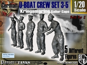 1-20 German U-Boot Crew Set3-5 in White Natural Versatile Plastic