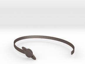 Saturnus Bracelet in Polished Bronzed Silver Steel