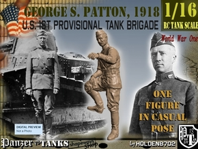 1-16 George S Patton Resting Leg 1918 in White Natural Versatile Plastic