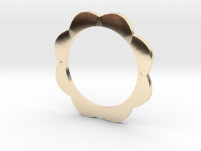 FLOWER POWER Pendant for Necklace or Bracelet in 14k Gold Plated Brass: Medium