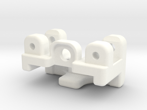 E-Revo Double Bracing Mount (Rear) in White Strong & Flexible Polished
