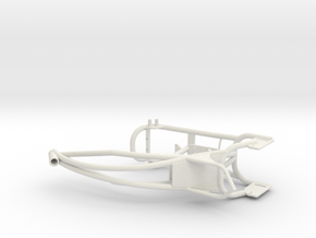 Custom bike frame in White Natural Versatile Plastic