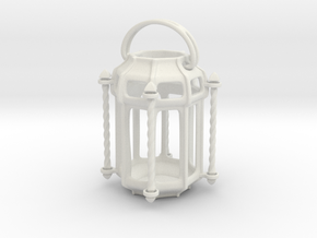 Lantern Octagon Oriental Medival Ironwork: Miniat in White Strong & Flexible