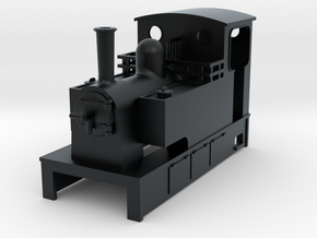 OO9 Cheap and easy Kerr stuart style tram loco   in Black Hi-Def Acrylate