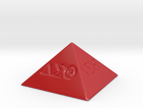 Delta Sigma Theta Decorative Pyramid in Gloss Red Porcelain