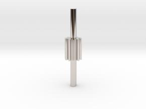 Cylindrical gear Mn=1 Z=10 - Alfa=20° Beta=0° b=15 in Rhodium Plated Brass