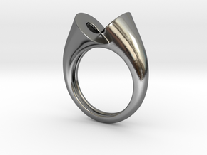 Ring triedrico in Polished Silver: 5 / 49