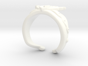 Neo Queen Serenity Crown Ring Sz9  in White Processed Versatile Plastic