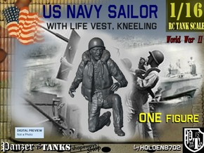 1-16 USN Sailor Right Knee in White Strong & Flexible
