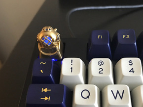 Diver Helmet (For Cherry MX Keycap) in Raw Brass