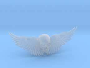 Winged Skull ring  in Smooth Fine Detail Plastic: 11 / 64